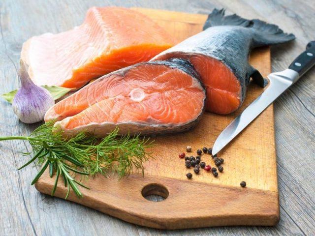 Gambar Warna Daging Ikan Salmon