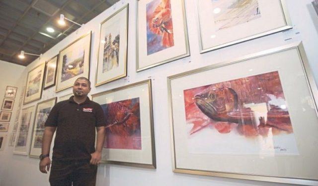 Gambar Ikan Arwana - Lukisan ikan arwana