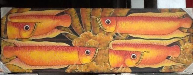 Gambar Ikan Arwana - Lukisan Ikan Arwana 30x90