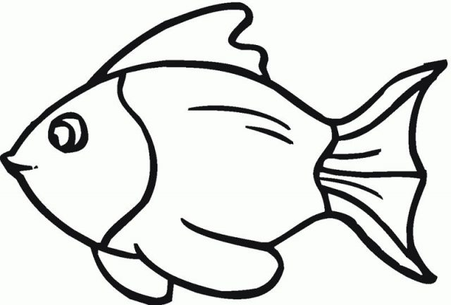 Ikan Kartun Hitam Putih