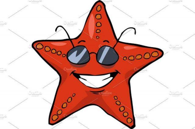 gambar bintang laut kartun